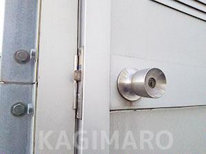 鍵開け後のドア